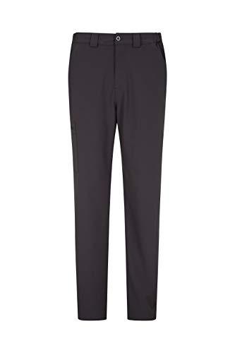 Mountain Warehouse Pantalon Extensible Hommes Stride - Court - UPF50+, léger, séchage Rapide, Taille élastique - pour Voyager en été, Camping, randonnée Gris foncé 60W