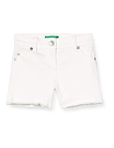 United Colors of Benetton Baby-Mädchen Shorts, Weiß (Bianco 101), 86/92 (Herstellergröße: 2y)