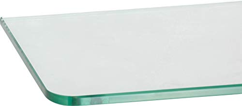 ib style® Glasboden | 8mm | abgerundet | 9 Größen | Klar |60 x 15 cm