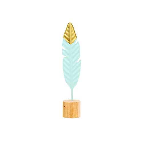 PoeHXtyy Escritorio innovador verde de la pluma del hierro nórdico para la decoración del dormitorio del comedor de la sala de estar