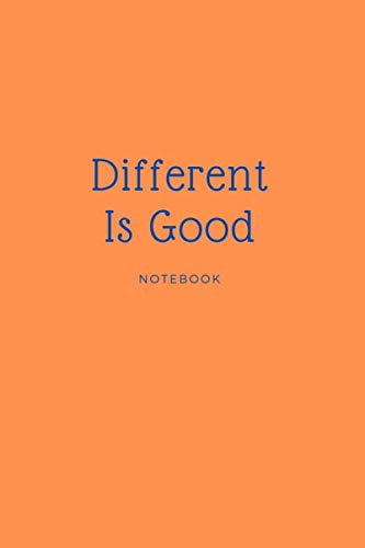 Different Is Good  Notebook,  Organizer, Bullet Journal: Perfect  size 6x9,  Dot Graph Paper, 110 pages (Pastel)