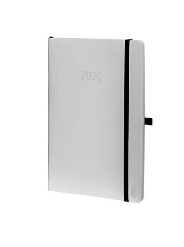 Chronoplan 50930 Buchkalender Kalendarium 2020 (A5 Softcover, Wochenplaner (135 x 210 mm, 1 Woche auf 2 Seiten)) weiß