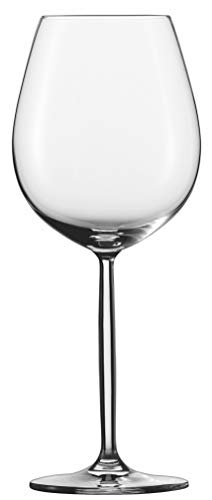 Schott Zwiesel Diva 6-teiliges Rotwein/Wasserglas Set Wijnglas, Kristalglas met Tritan beschermlaag, Transparente, 10 cm, 6