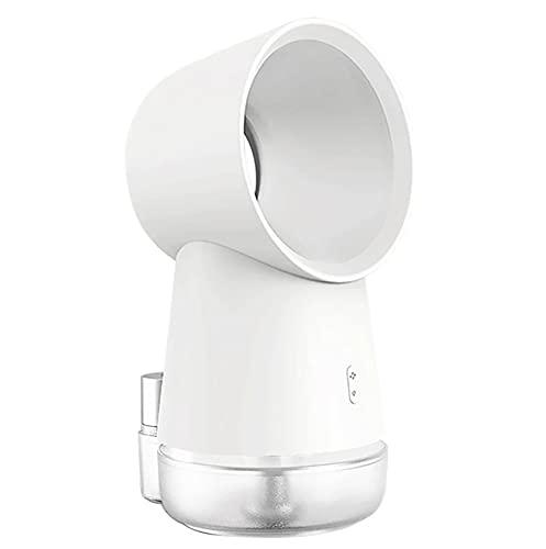 Fan de escritorio portátil, 3 en 1 Mini ventilador de enfriamiento sin sentido con humidificador de niebla y DIRIGIÓ Luz, viento natural, luz de noche cálida, humidificatiom, enfriamiento silencioso