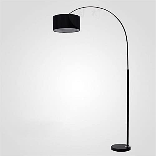 Arte de hierro E26 Lámpara de pie Sofá blanco y negro Retro Minimalista Luz de pesca clásica Sala de estar de noche de estudio de la noche de iluminación de la oficina antigua [grado de energía a