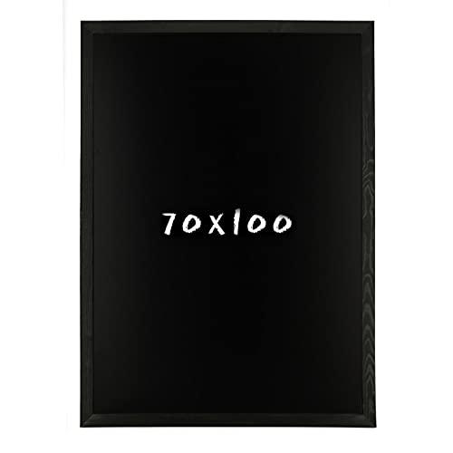 postergaleria Tableau Noir pour Mur |70x100cm |Schwarz |Tableau Noir en Bois de pin (HDF) |avec de la Craie et Une Ficelle à Suspendre |Beaucoup de Couleurs