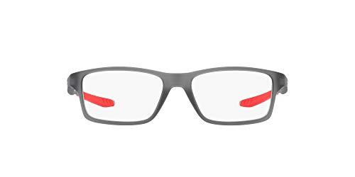 Oakley 0OY8002 Monturas de gafas, Satin Grey Smoke, 48 para Hombre
