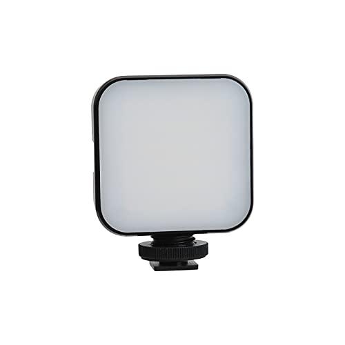 Luz de cámara, ST-48N 6000K 95+ LED Mini luz de Relleno, Tornillo de 1/4 pulg, Boca de Zapata fría, iluminación de fotografía, para videocámara, teléfono móvil, transmisión en Vivo, grabación SLR