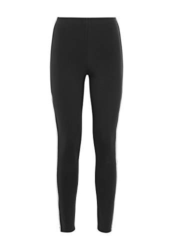 HALLHUBER Leggings mit Track-Stripes eng geschnitten schwarz, M