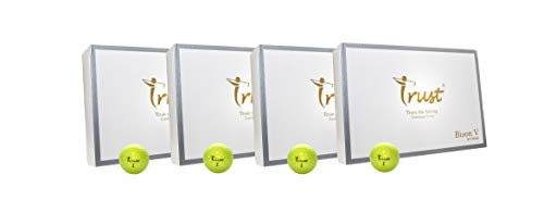 4 Dozen Set- Trust Bison V, Urethane Covered for Swing Speed 95~105mph, 3 Piece Golf Ball, Soft & Elasticity Feel, Green Side Control with Distance, Tour Golf Ball-Yellow