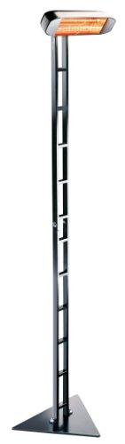 HELIOSA 992 Ständer SCALA KOMPLETT mit Infrarotstrahler 1500 Watt IPX5, aus robustem Aluminium-Druckguss hergestellt und mit thermoplastischen Lacken für den Außenbereich lackiert. Kurzwellen – Heizstrahler für Indoor und Outdoor geeignet, Farbe: Anthrazit - 3