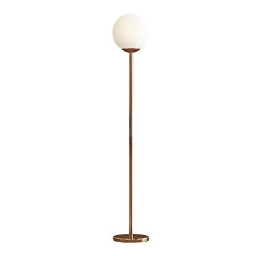 SuRose Globe, lámpara de pie, Esfera, lámpara de pie LED, lámpara de pie, lámpara de pie de Metal, Poste Alto, para Salas de Estar, Dormitorio, Oficina, Moderna lámpara de pie de Globo de Vidrio es