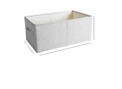 LAI Cajas de Almacenamiento de Ropa Tela de poliéster sin Olor Cestas de Almacenamiento Transparentes Contenedores Gavetas Ropa Juguetes Libros Organizador, Blanco, S