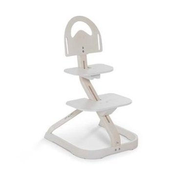 Wooden High Chair for Toddlers - Svan Signet Essential Chair, Whitewash