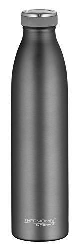 ThermoCafé Edelstahl Thermosflasche TC Bottle 750ml, Wasserflasche kohlensäurefest, Isolier-Trinkflasche Edelstahl grau, auslaufsicher, 4067.234.075, Thermoskanne 12 Stunden heiß, 24 Stunden kalt