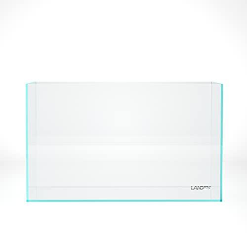 LANDEN 60P 16 Gallon Rimless Low Iron Aquarium Tank, 23.6' L × 11.8' W × 14.2' H (60cm x 30cm x 36cm) 6mm Thickness with Nano Foam Leveling Mat 111004