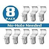 No-Hole Needed Vinyl Siding Hooks Hangers for Hanging 8 Pack, Heavy Duty Light Mailbox Planter Hanger 8 Pack