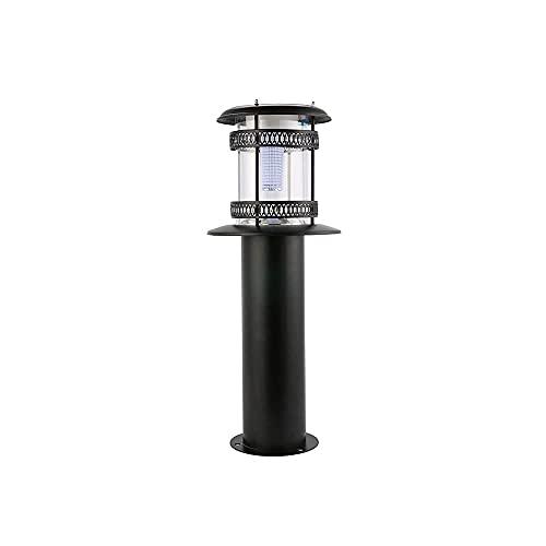 ZHZHUANG Luz Solar Led de Poste Al Aire Libre, Accesorios de Luces de Linterna de Poste Impermeable, Postes de Lámpara de Decoración Exterior con Patio de Jardín (Negro)