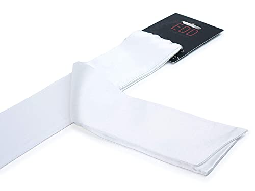 Premium Satin BDSM Bondageschal Augenbinde Bondage Fessel Schal Set (Weiß)