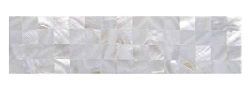 Mother of Pearl Tile Border 3'' x 12'' for Kitchen Backsplashes, Bathroom Walls, Spa Tile, Pool Tile