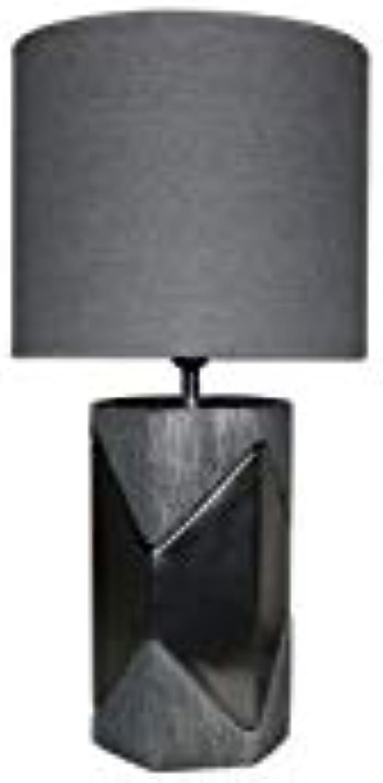 Socadis – Tischleuchte, Metall-Effekt, Schwarz und Grau B07G8QB5Q3       Schöne Kunst