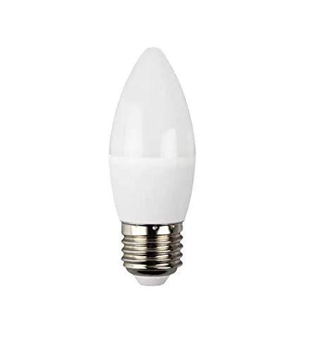 Llynguil-Pack de 6 Bombillas LED,C37 Tipo Vela Casquillo Grueso E27,7W(Equivalente a 60 Incandescente) Luz Cálida 3000K, Ángulo 200º,560 Lúmenes, No Regulable, Bajo Consumo A+