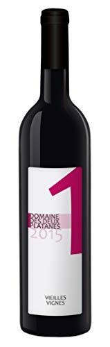 Domaine des Deux Platanes Wein - 1 2015 - Weinflasche 1 x 0,75 l - Weinqualität aus Frankreich - Rotwein - Gekeltert aus Carignan, Cinsault, Mourvèdre und Grenache - Bio