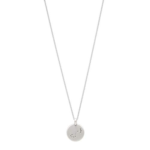 Pilgrim Jewelry Halskette mit Sternzeichen und Kristall (Versilbert - Skorpion Sternzeichen)