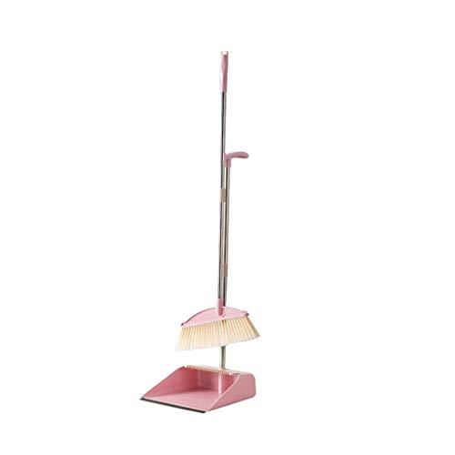 Liangzishoo-Besen Sets Haushaltsreiniger, 3-lagiges Bürstenkopfreinigungsset for Küchenschlafzimmer, Kammdesign (Color : Pink)
