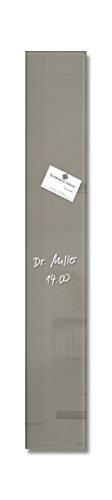 SIGEL GL108 kleines Glas-Magnetboard 12 x 78 cm taupe / Premium Magnetleiste Artverum - weitere Farben