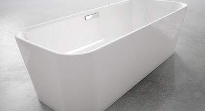 Bette Art Badewanne freistehend, 180x75cm, 2 Rückenschrägen, 3480 CFXXK, Farbe: Weiß
