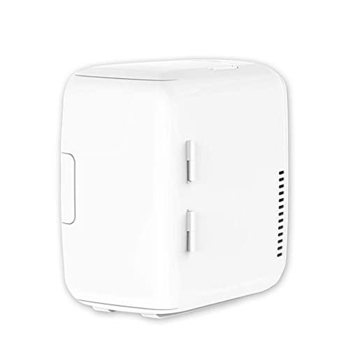 Pkfinrd Mini refrigerador eléctrico Mini refrigerador refrigerador Calentador termoeléctrico silencioso energía eficiente portátil Mini refrigerador, Blanco, 8 l
