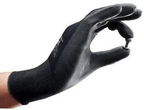 Ansell Glove Work Light Duty Size 10.0 Dark Gray Nylon Shell Black Polyurethane Palm Knit Wrist Sensilite 48-101 -1 Dozen Pairs