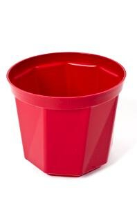 Plastkon Décoration Pot Rose Diamètre 17 cm, Rouge