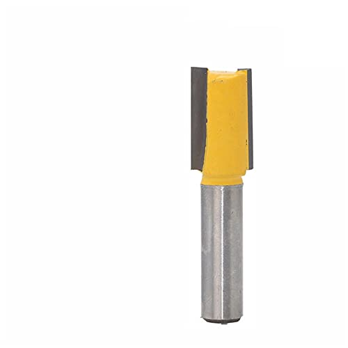 L-Yune, 1pc 8mm Shank 12mm Diameter X 48mm Length Straight/Dado Router Bit Tungsten Carbide Router Bits For Wood Woodworking Tools (Size : As show)