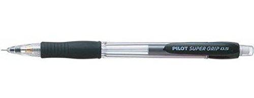 Pilot Super Grip H-187 mechanischer Bleistift (Schwarz, Kunststoff, rund, Metall), 1 Stück