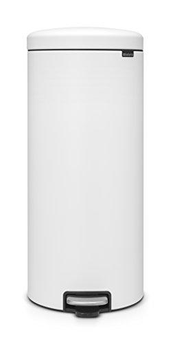 Brabantia Poubelle à Pédale NewIcon Sense of luxury,30 litres - Blanc