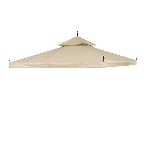 Yescom 10'x10' Water Resistant Canopy Top Replacement for Arrow Gazebo Dual Tier Beige Outdoor Garden Yard Patio Cover