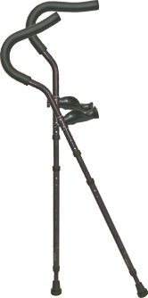 in-Motion Pro Crutches | Foldable | Ergonomic Handles | Spring Assist Technology | Articulating Tips | Size Short (4'6' - 5'6') | Charcoal Grey