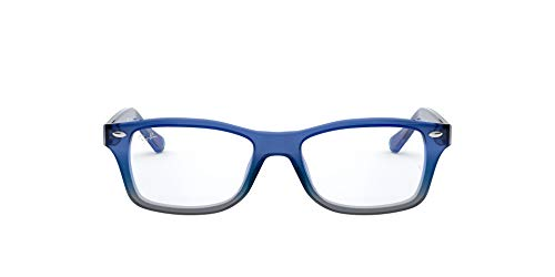 RAYBAN JUNIOR Ray-Ban Unisex - Kinder Brillengestell RY1531, Blau (Blue Gradient Iridescent Grey), 48