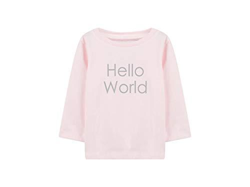 NAME IT NAME IT Baby-Mädchen Langarmshirt mit Print rosa Bio-Baumwolle 74