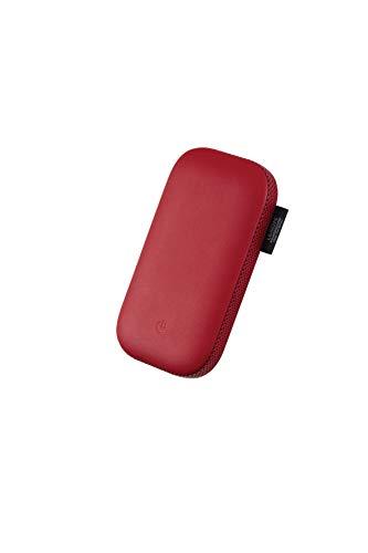 Lexon Power Power - Batería externa de inducción con altavoz Bluetooth 360º, color rojo