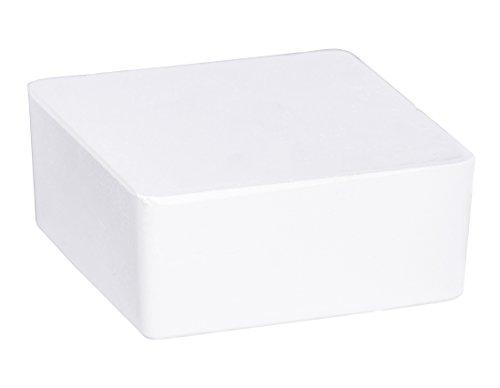 WENKO Raumentfeuchter Cube Nachfüller 500 g mit Orangenduft - Luftentfeuchter, Nachfüllpack, Calciumchlorid, 10 x 5 x 10 cm, Weiß