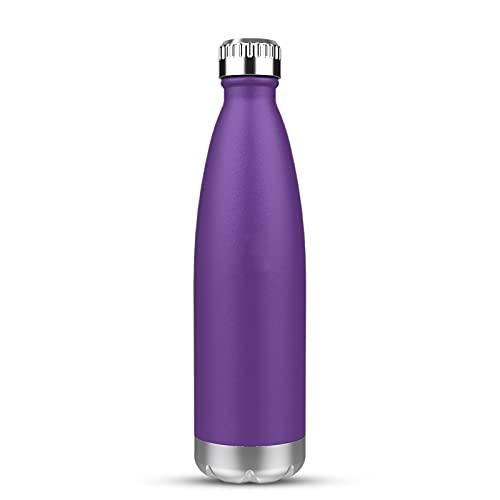 JSSEVN Botella deportiva con aislamiento de acero inoxidable para viaje, jarra de agua de metal, 350 ml para 12 horas calientes y 24 horas de bebidas frías