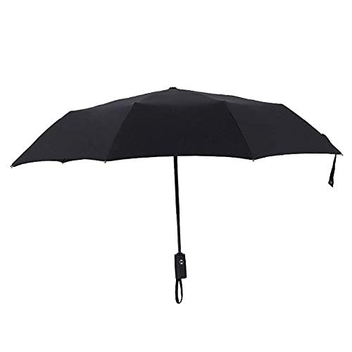 Paraguas Paraguas Auto-Plegable Paraguas Plegable 10 Filas de Varillas Paraguas Compacto, Ligero y Estable de Acero Inoxidable Resistente al Viento