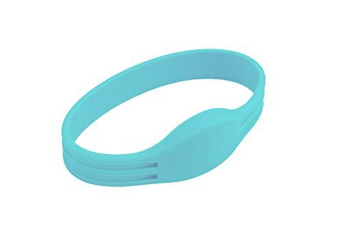100 Stück RFID Armband MIFARE® Classic 1K - Hellblau