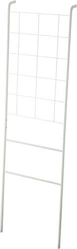 Yamazaki Home Grid-Panel Leaning Ladder-Modern Storage Rack for Bedroom Or Bathroom, One Size, White