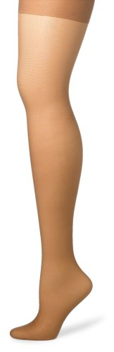 Hanes Silk Reflections Women's Silky Sheer Control Top Sandalfoot Hosiery, Barely There, CD (Pack of 3)
