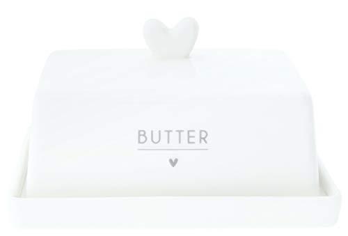 Bastion Collections - Butterdose mit Grauer Aufschrift