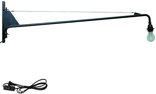 JeeKoudy E27 Retro Industrial Sconce Light Lámpara de Pared de Brazo Largo Brazo oscilante Luces de Pared giratorias Ajustables Pasillo Escalera Pasillo Restaurante Bar Dormitorio